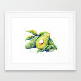 Avocados - Watercolor Framed Art Print