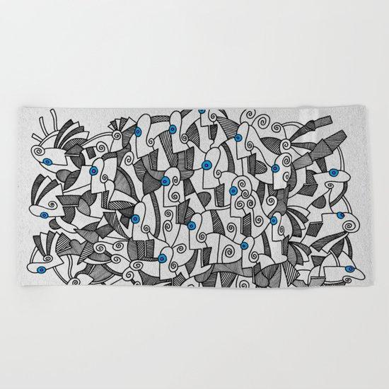 - fresque_02 - Beach Towel