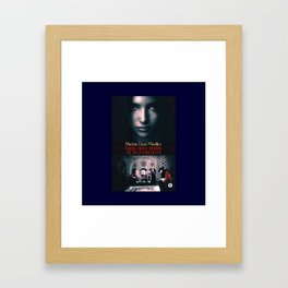 Those Rosy Hours Tote - blue Framed Art Print