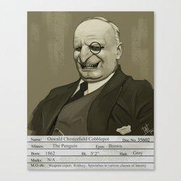 1930s The Penguin Mugshot Canvas Print