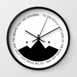 to the people who look at the stars and wish Wall Clock