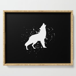 Wolf - Graphic Fashion Serving Tray