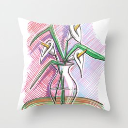 Three coves Throw Pillow