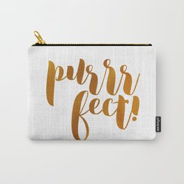 purrrfect! (golden) Carry-All Pouch