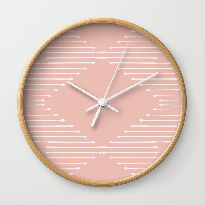 Geo / Blush Wall Clock