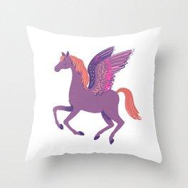 Purple Pegasus Throw Pillow