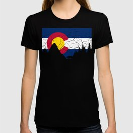 Colorado Flag and Mountains T-shirt