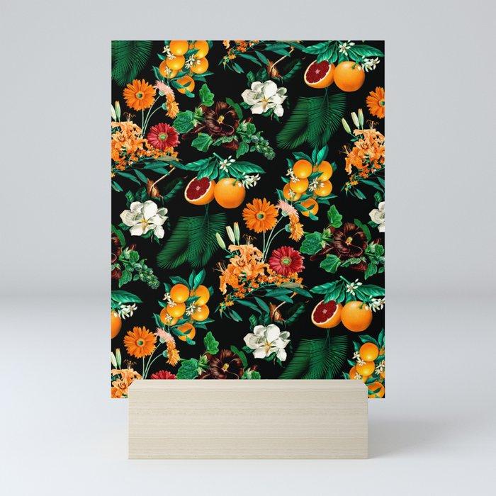 Fruit and Floral Pattern Mini Art Print
