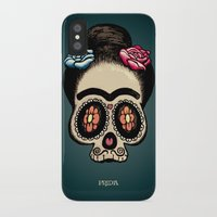 frida iPhone & iPod Cases featuring Frida by mangulica