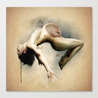 mom Canvas Prints featuring Mom by Subcon