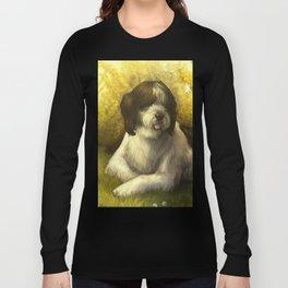 Jake: Sheepdog Portrait Long Sleeve T-shirt