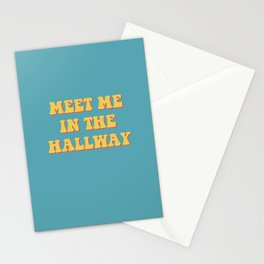 meet me in the hallway Stationery Cards