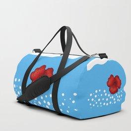 Coquelicot et ciel bis Duffle Bag