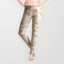 Pink Pastry Pattern Leggings