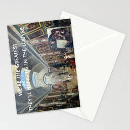 The Greatest in the Grande Galerie du Louvre Stationery Cards