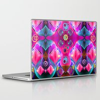 diamonds Laptop & iPad Skins featuring Diamonds by thea walstra