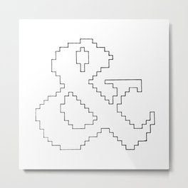 Ampersand pixel Metal Print