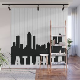 Atlanta Skyline Wall Mural
