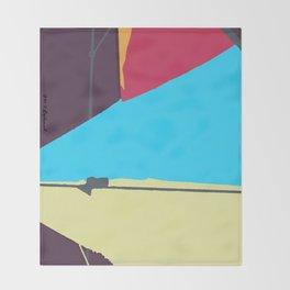 Kite—Aubergine Throw Blanket