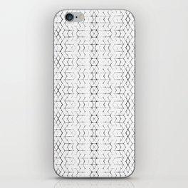 Shibori Diamonds in Black and White iPhone Skin