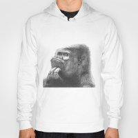 gorilla Hoodies featuring Gorilla by Nasir Nadzir