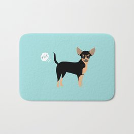 Chihuahua funny fart dog pure breed gifts dog lovers black and tan Bath Mat