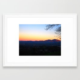 Mt. Diablo Framed Art Print
