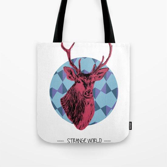 Strange world / crazy Deer Tote Bag