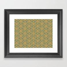 Flower pattern green/yellow Framed Art Print