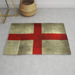 Flag of England (St. George's Cross) - Textured version to scale  Rug