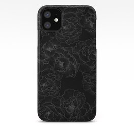 Peony Flower Pattern III iPhone Case