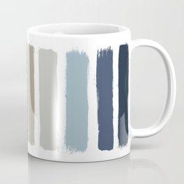 Blue & Taupe Stripes Coffee Mug
