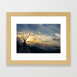 Alaskan Campout Framed Art Print