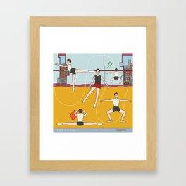 Ballet Training Framed Art Print