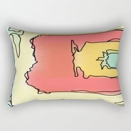 Colorful Jazz Rectangular Pillow