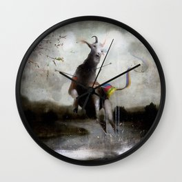 the golden fawn Wall Clock