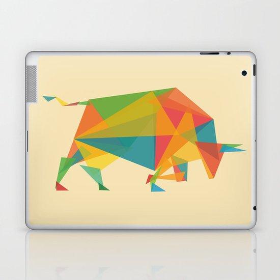 Fractal Geometric Bull Laptop & iPad Skin