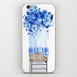 Flower Paint Brush iPhone Skin