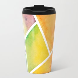 Rainbow Watercolor Travel Mug