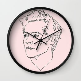 Harry Styles Drawing Wall Clock