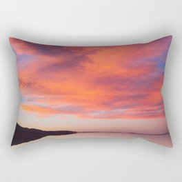 Electric orange sunset Rectangular Pillow