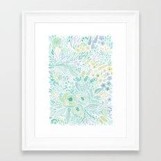 Watercolor . Flower meadow . 2 Framed Art Print