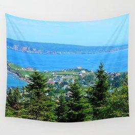 Bonaventure Island panoramic Wall Tapestry
