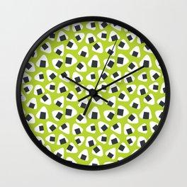 Onigiri (rice balls) pattern Wall Clock
