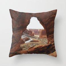 Window Rock Throw Pillow