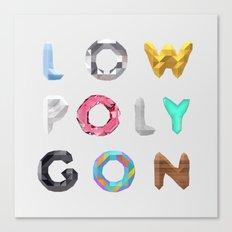 LOW POLYGON Canvas Print