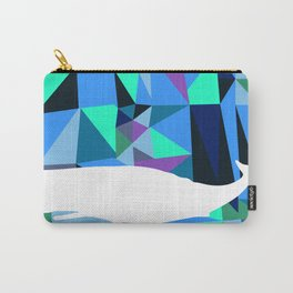 Whale art Geometric triangles artwork Carry-All Pouch