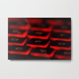 Retroiluminated keyboard Metal Print