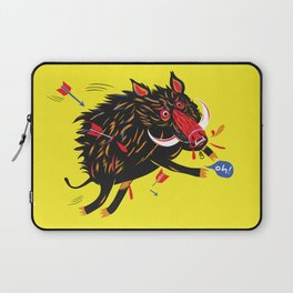 The wounded wild boar Laptop Sleeve