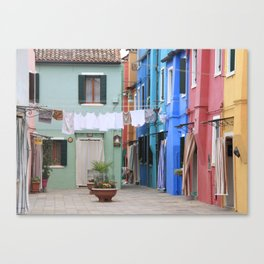 Colors of Burano Italy Canvas Print